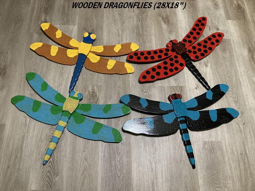 WOODEN DRAGONFLIES